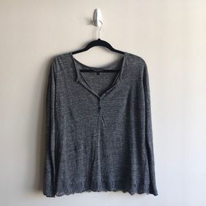 Banana Republic Linen Henley with Lace